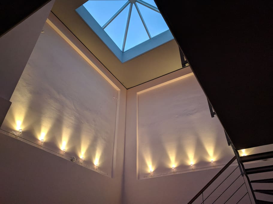 The house has a skylight.