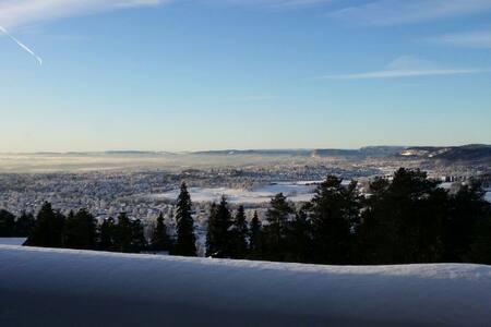 Naturskjønne omgivelser med panoramautsikt - Oslo - Apartment
