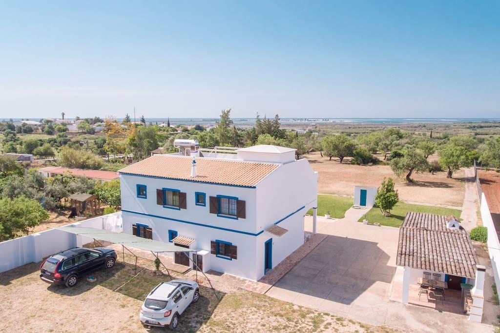 Casa vista aérea