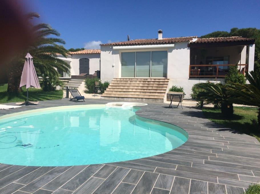 Chambres d 39 h tes ds villa piscine porticcio corse maison for Chambres d hotes piscine