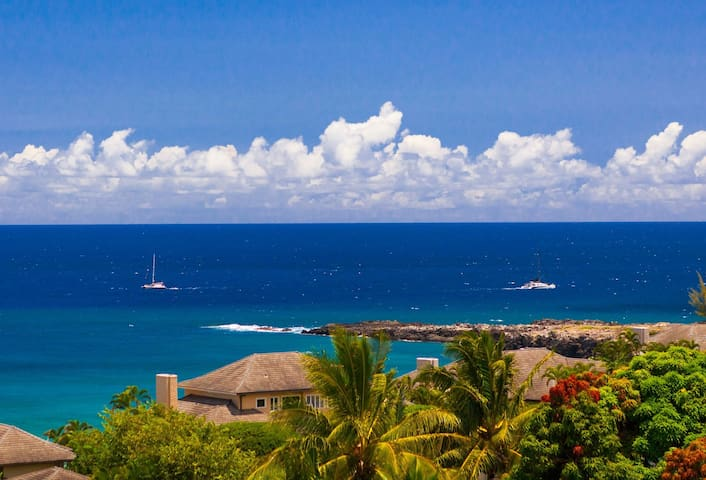 Villa 421. Ideal location in Kapalua with exotic ocean, costal and island views!