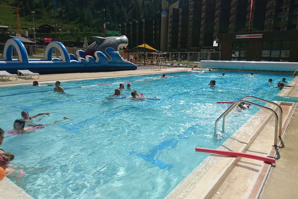 Free access to heated pool