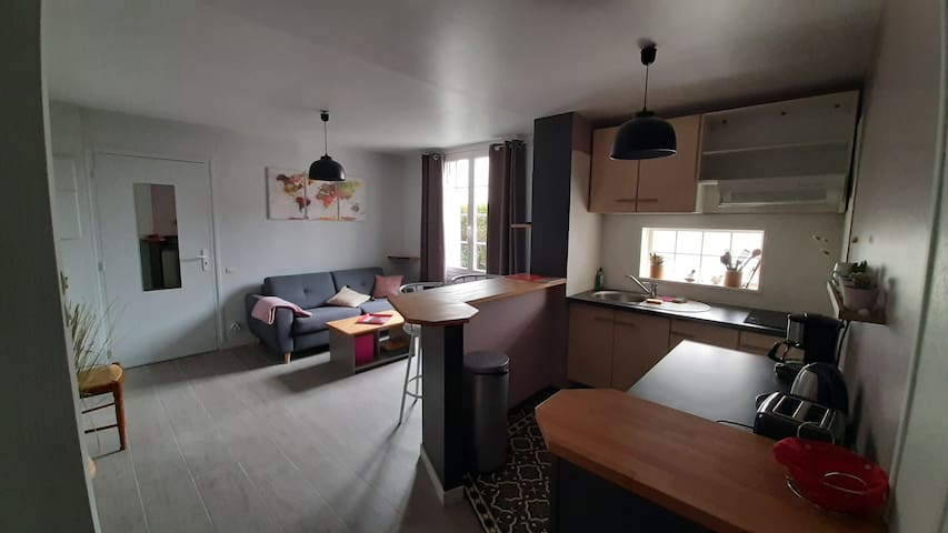 Appartement Cosy, T2 RDC, Carnac bourg