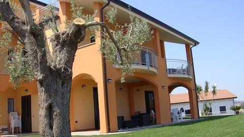 Apartment in a detached villa.