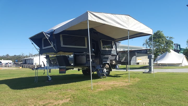 Camper trailer accommodation at your location