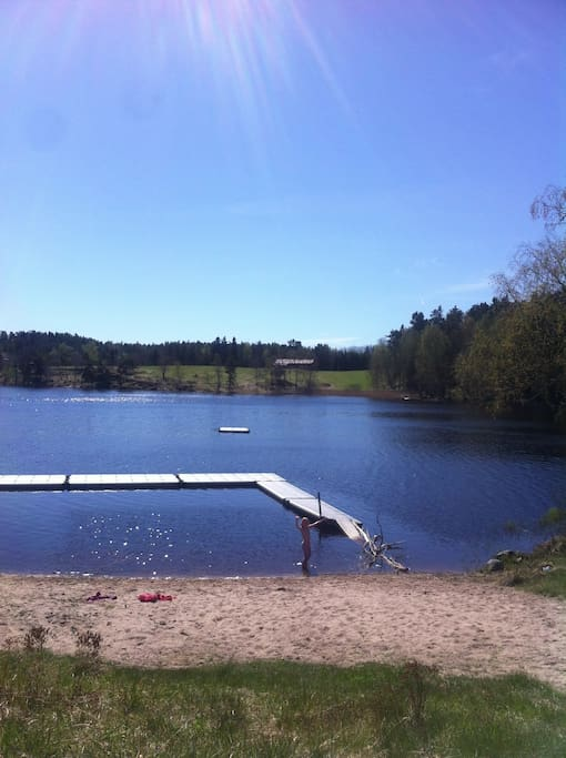 Local swimming hole at Hållsta, within easy biking distance