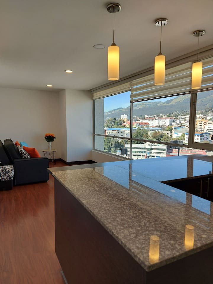 "Hermosa Suite con gran vista. Sector ""La Carolina"""
