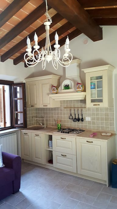 The Kitchen with views of an Etruscan arch