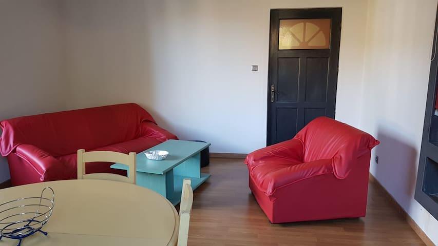 Appartement F2 meublé centre ville avec garage