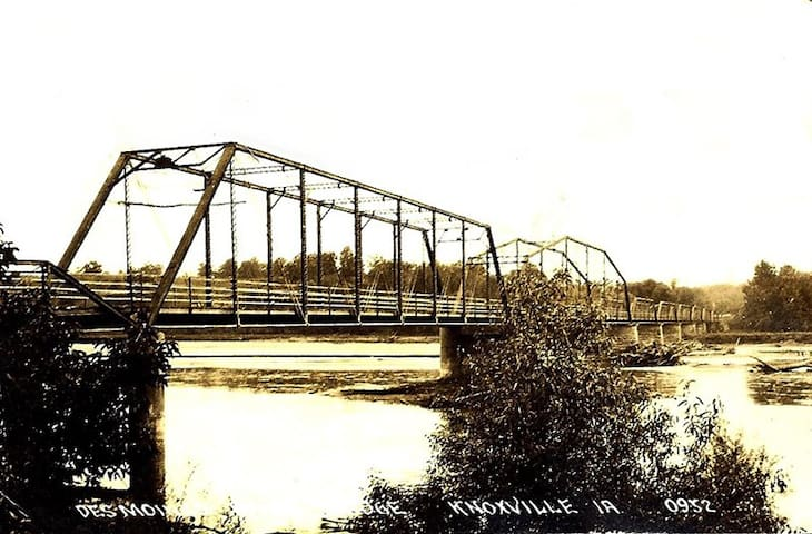 Horn Ferry Bridge, aka, the Dollar Bridge, Circa 1881; 4 miles from house
