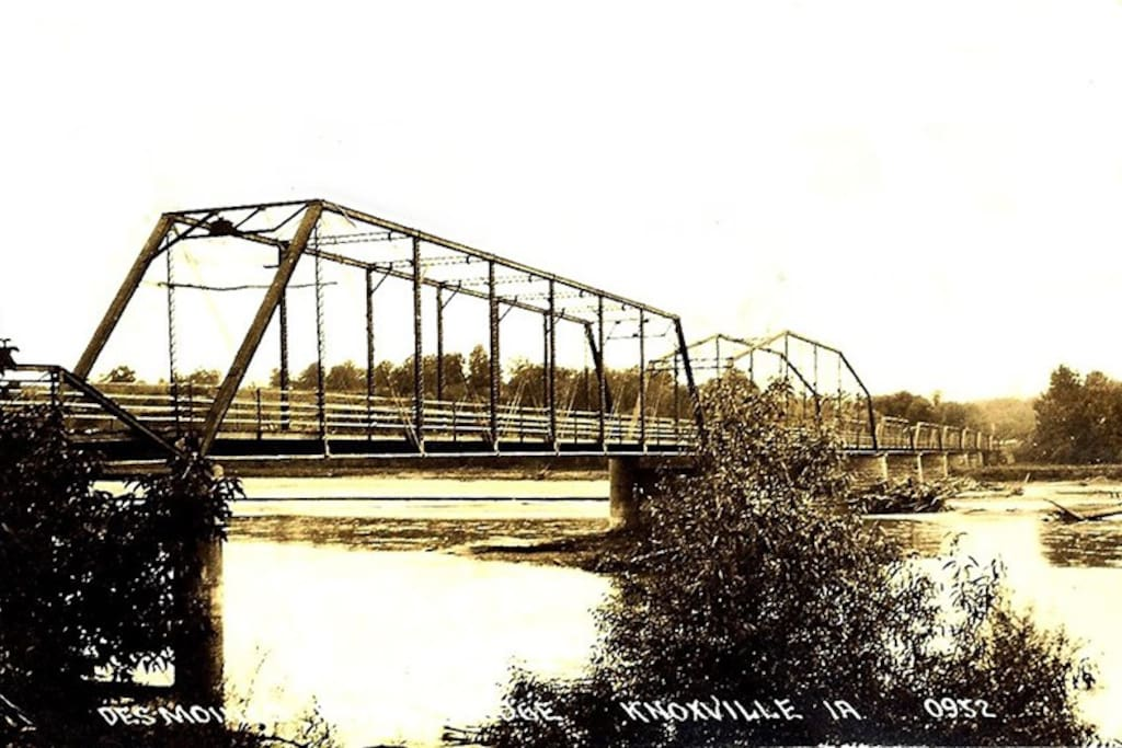 Horn Ferry Bridge, aka, the Dollar Bridge, Circa 1881; 4 miles from house