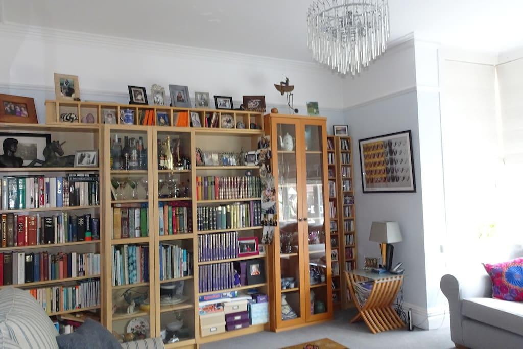 Plenty of books to keep you occupied....