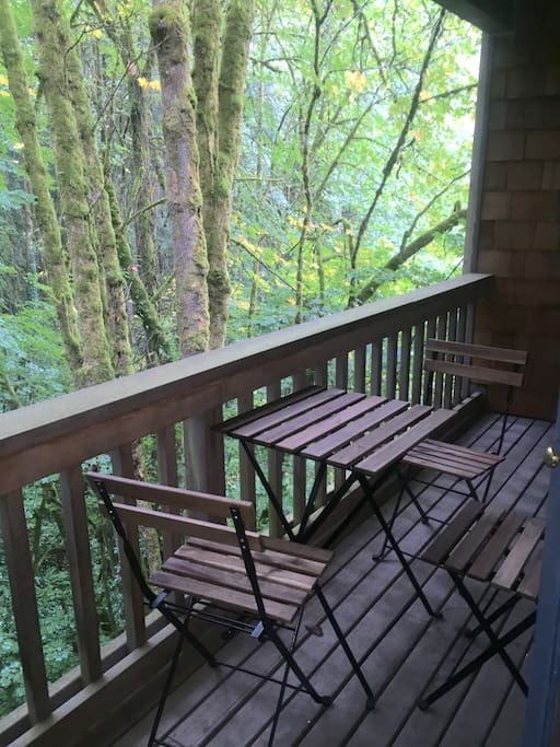 View from private deck off the Wildwood Room.