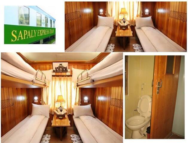 4 Berth Cabin Train from Hanoi to Lao Cai (Sapa)