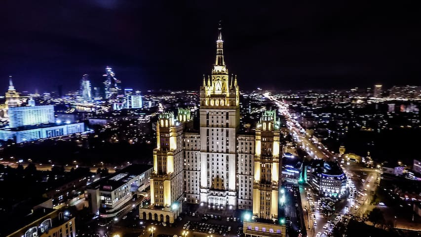 Historical apartment/Kudrinskaya skyscraper - Moskva - Apartment