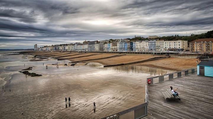 Hastings apartment, fabulous view of Pier