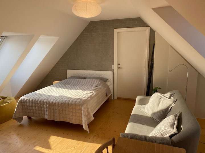 Charming loft apartment with roof top terrace.