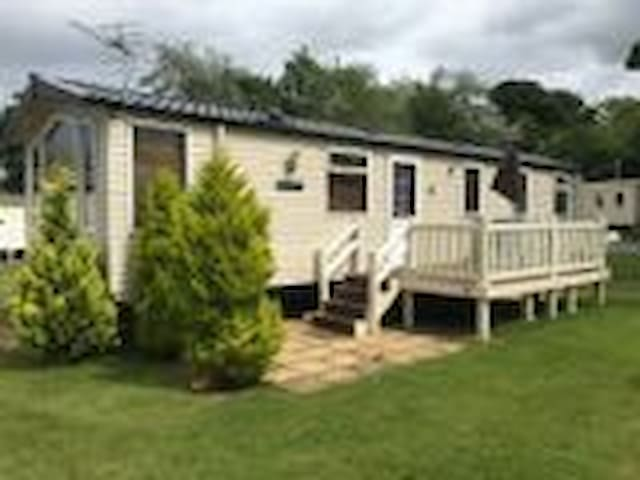 8 Berth prestige caravan with decking