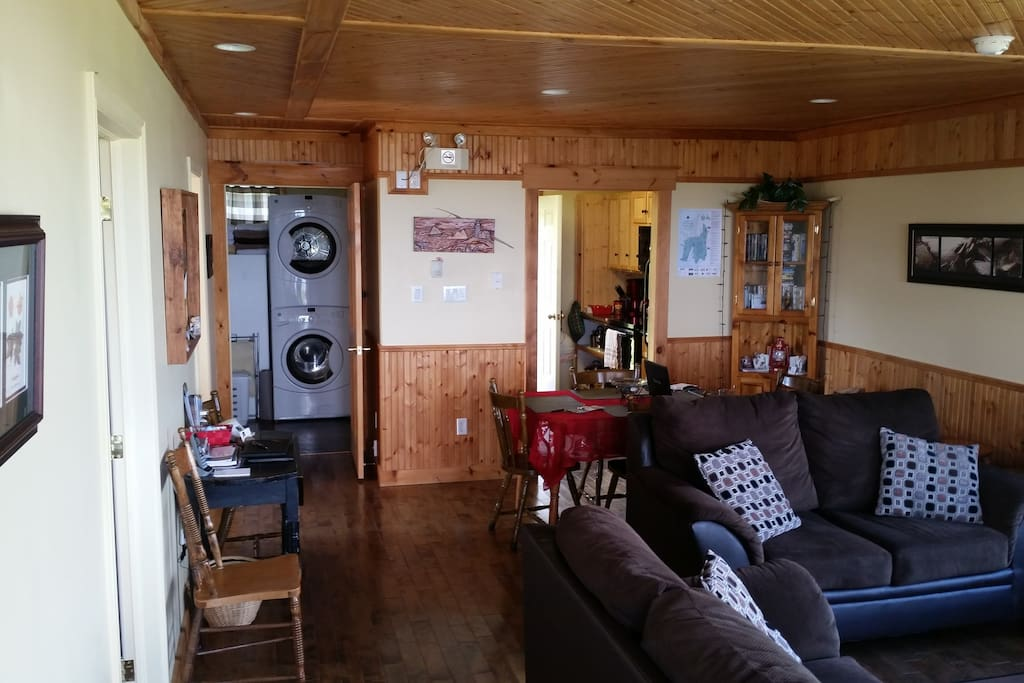 The living space of the Cottage includes sofa and a loveseat.