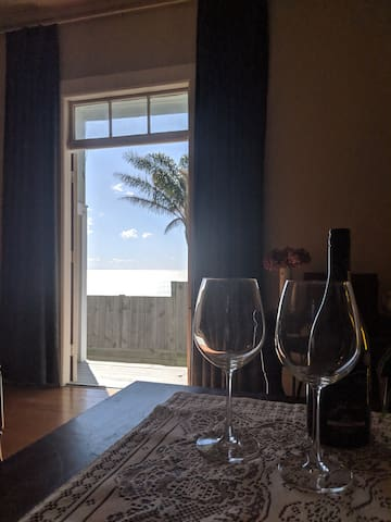 Enjoy the sounds of the waves from the comfort of the living room