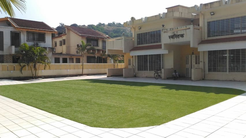 Swastik 3bhk Villa 1 with 2000sft shared lawn