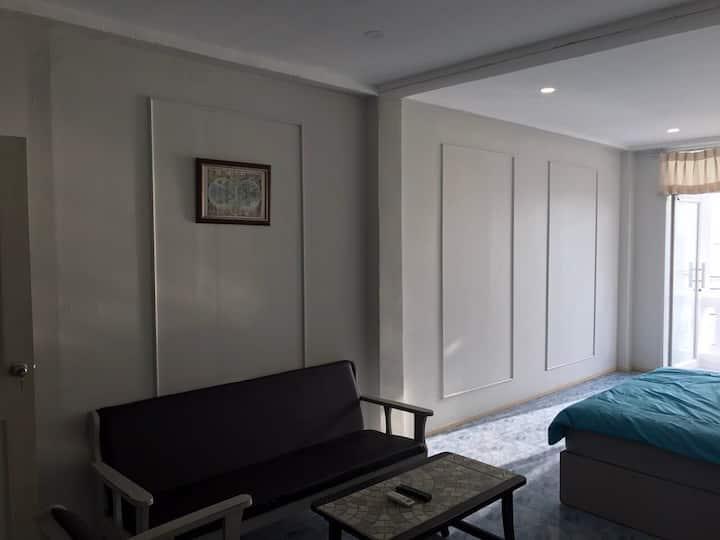 Seaview family room with balcony