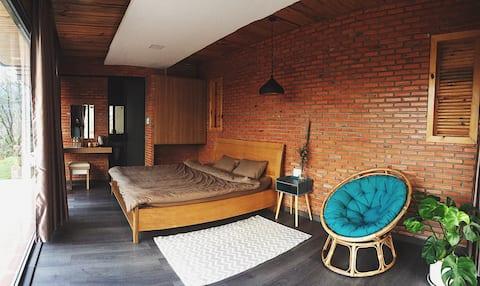 Être homestay - Bungalow 1 bed view Tuyen Lam lake