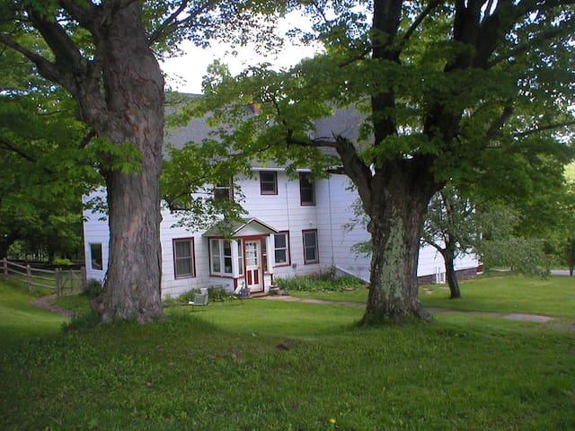 Enjoy the 100-year-old farmhouse