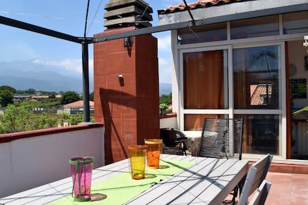 Luminous(roof)app., spacious terrace with EtnaView - 阿奇雷亚莱 - 公寓