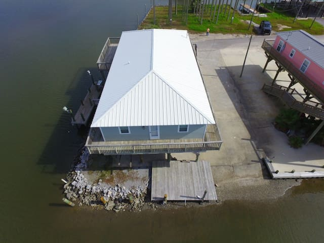 Rusty's Boat:Waterfront in Grand Isle w/ boat access, boat launch & fishing pier