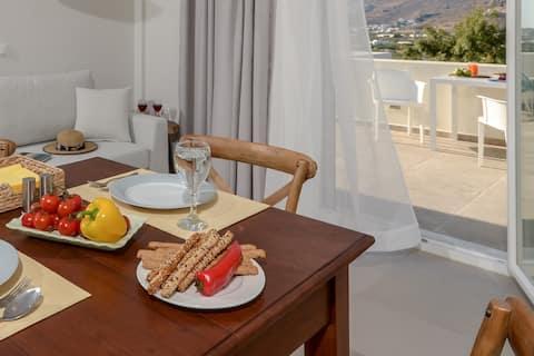 Ruhe Häuser Naxos, herrliche Aussicht, riesige Veranda.