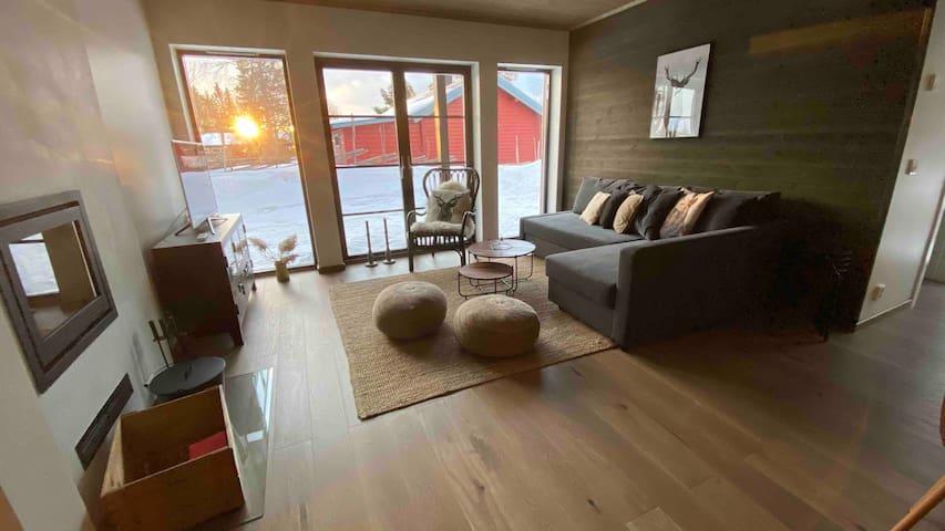 Nybyggd lägenhet nära backen i Lindvallen, Sälen.