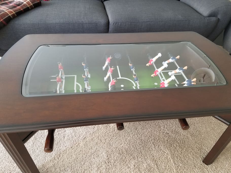 Enjoy a friendly foosball game!