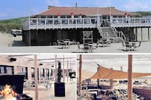 Two of many - cosy or trendy - Beach pavilions. Enjoy a drink, a snack or a delicious meal with STUNNING SEA VIEW SUNSETS