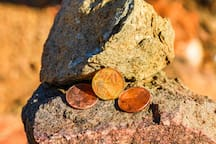 Leave pennies behind for good energy!