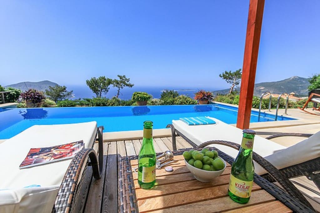 Chill on the pool terrace and enjoy the view