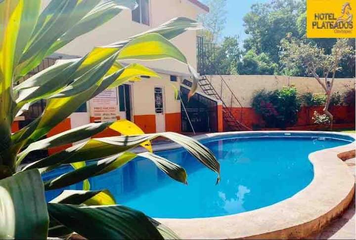 Habitación para 2 en Hotel Plateados, Oaxtepec