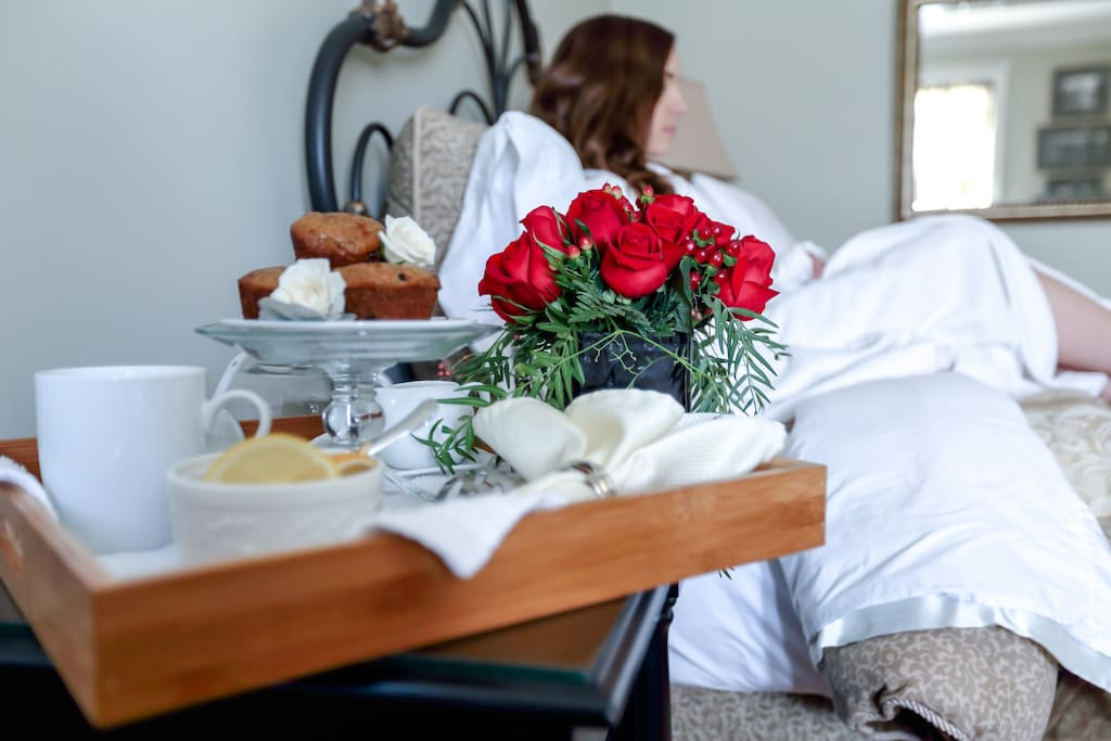 Coffee service and pastries delivered to your room.