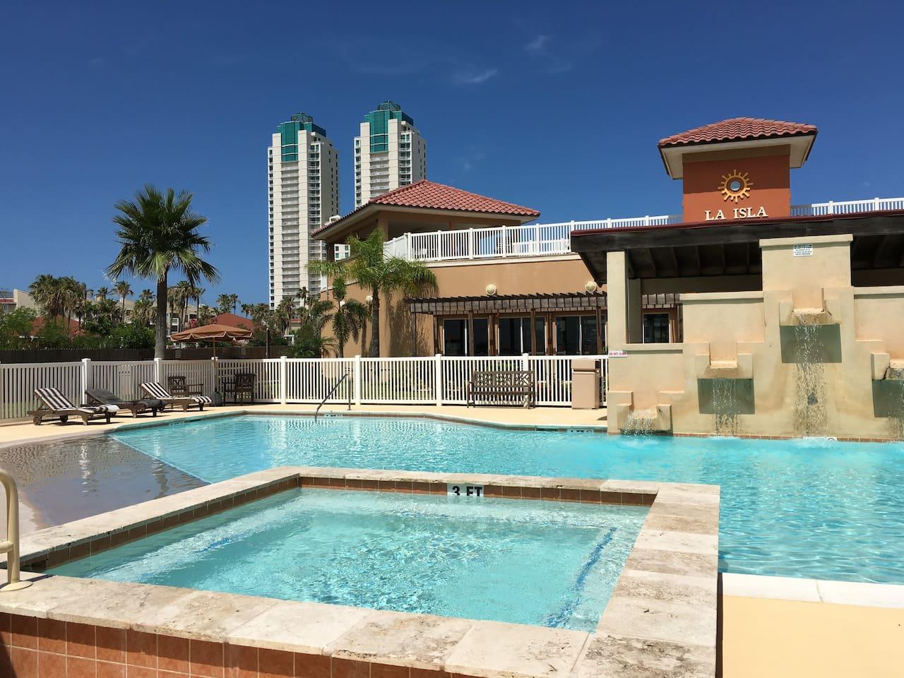La Isla Residences Pool #1 with 2 Hot Tubes