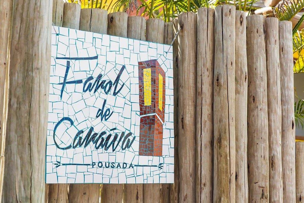 Fachada/Entrada Pousada Farol de Caraíva