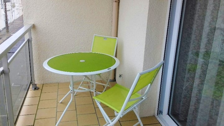 Apartment with one bedroom in Fort-Mahon-Plage, with furnished terrace - 50 m from the beach