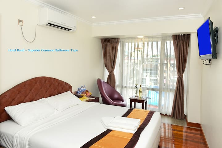 YangonCity's BOND sweet bed with Shared Bath