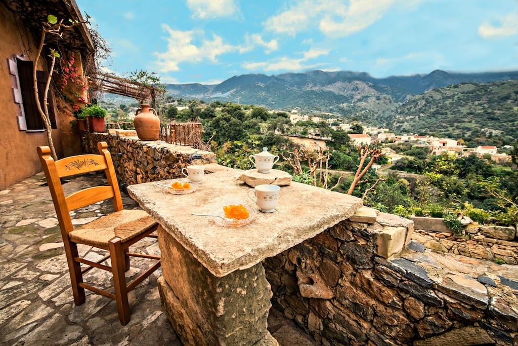 Panoramic mountain and village view !