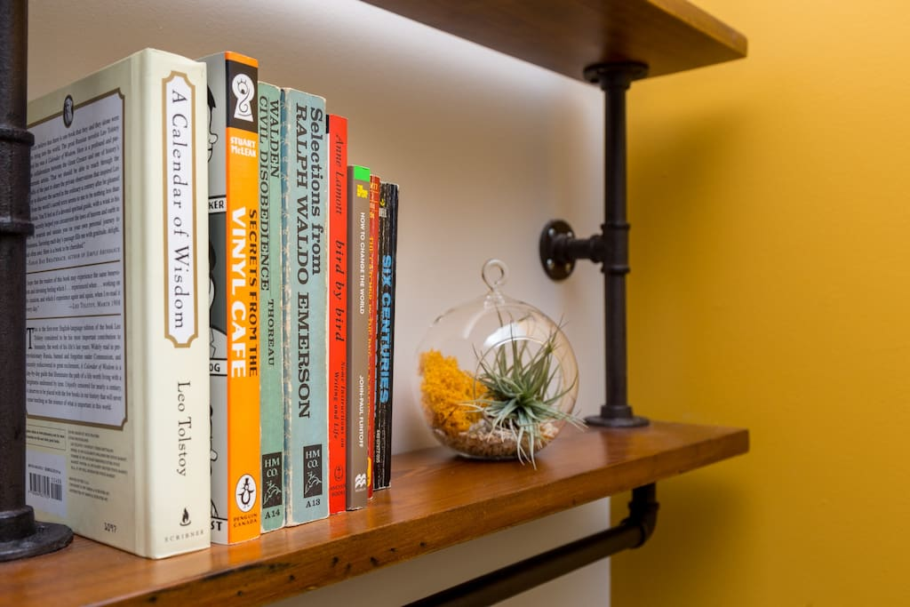 Complimentary books to read during your stay