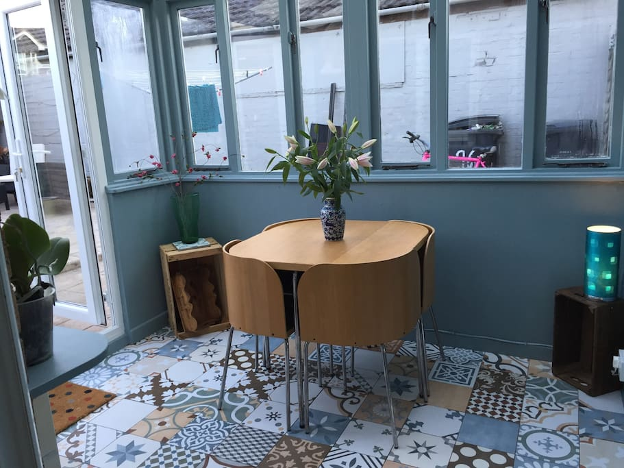 Conservatory with Dining Table