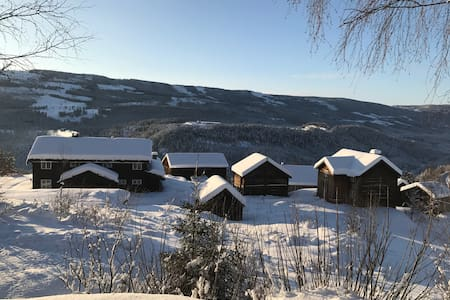 Lodge with farm in Valdres with Jotunheimen views