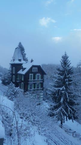Alpes suisses, 60' de Chamonix, maison du 19ème
