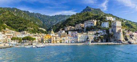 Amalfi Sahili'ndeki O' Sole Mio Apartmanı Cetara