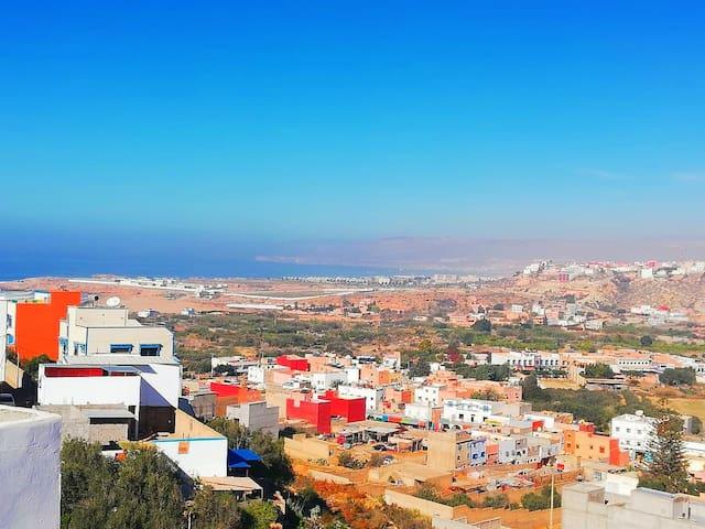 Appartement vue sur mer à Agadir (Aourir)