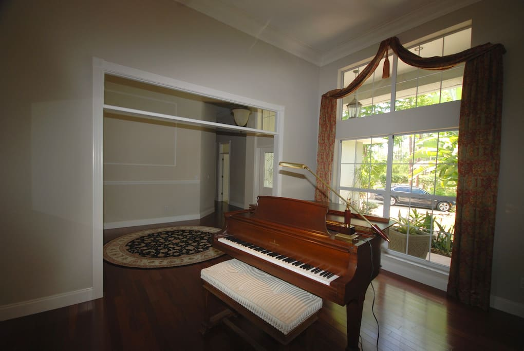 Steinway by the foyer